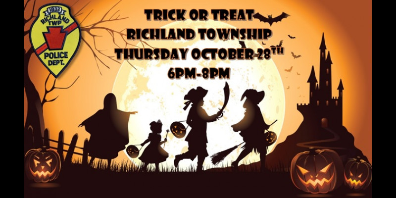 Image for Richland Township Trick or Treat - 10/28