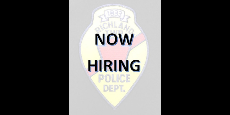 Image for Employment Announcement - Richland Twp PD is accepting applications for the position of Police Officer